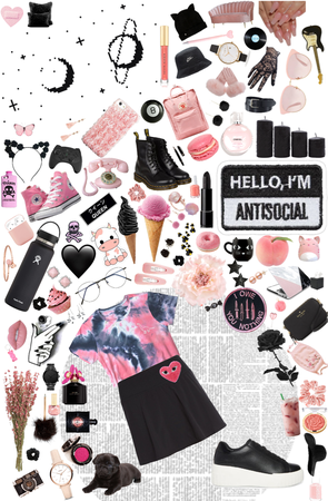 Black/Pink Moodboard