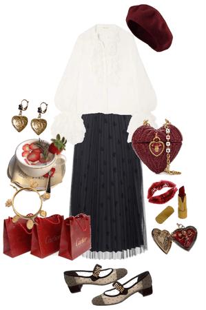 red parisian girl