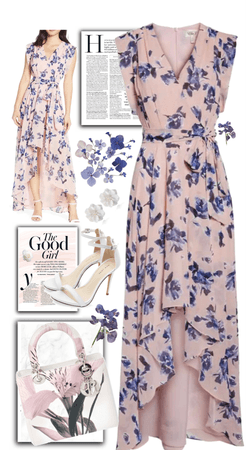 Pretty Dress in Light Pink and Purple