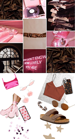 pink+ chocolate brown