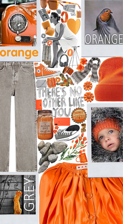 orange and grey color scheme 😊🧡