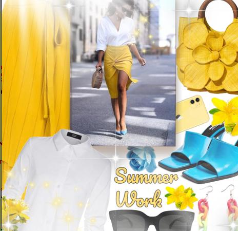 Bright summer work