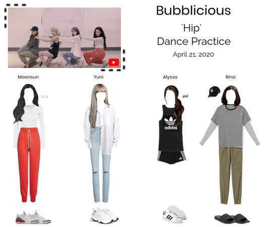 Bubblicious (신기한) 'Hip' Dance Practice
