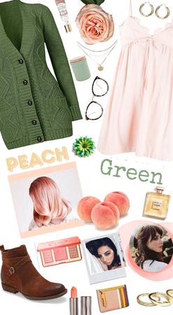 Peach and Green