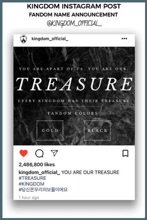 {KINGDOM} Official Instagram Post