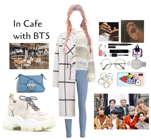 In cafe with bts