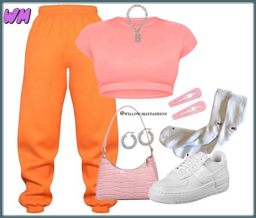 Pink+Orange Baddie