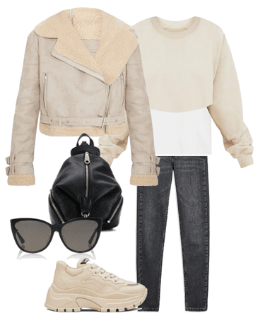 beige casual look