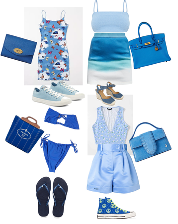 blue outfits I did my best