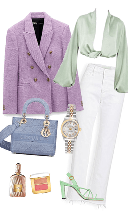 luxury woman spring outfit