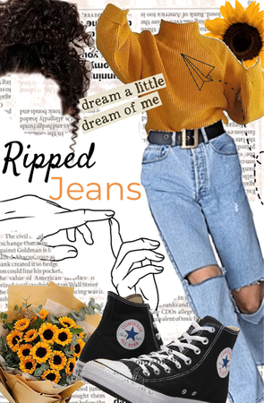 ripped jeans outfit!!