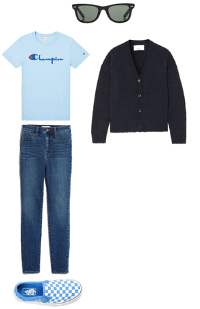 Blue Travel Outfit