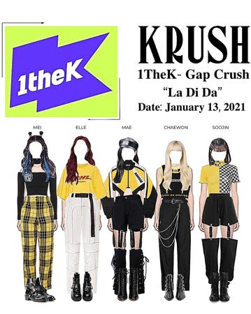 "KRUSH 1TheK Gap Crush ""La Di Da"""
