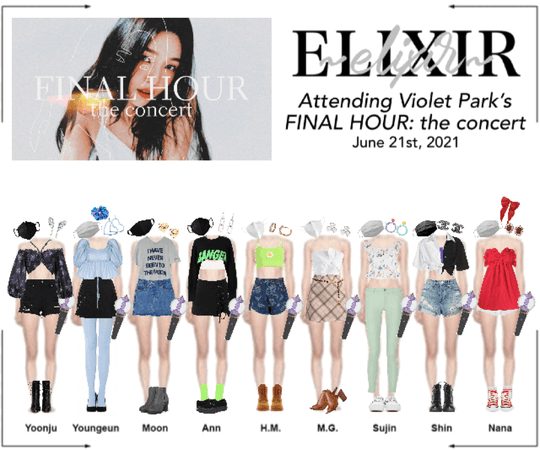 ELIXIR (엘릭서) attending Violet Park's FINAL HOUR: the concert