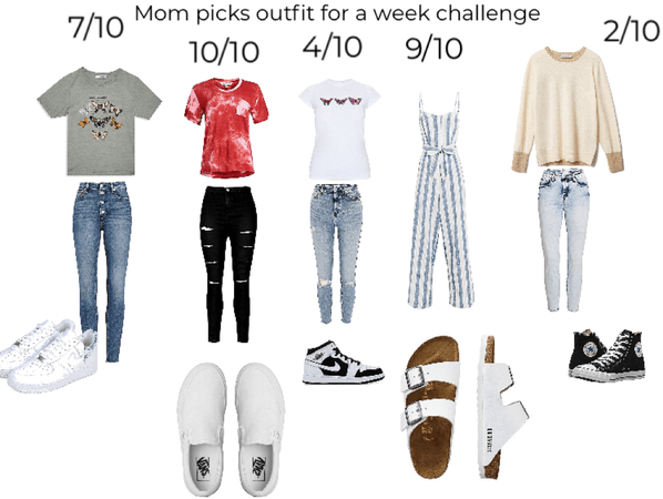 mom picked my outfits for a week challenge