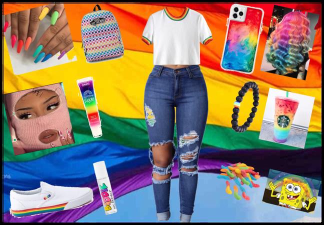 #pridemonth 💚 AKA RAINBOW FIT 💜💙💚💛🧡💖