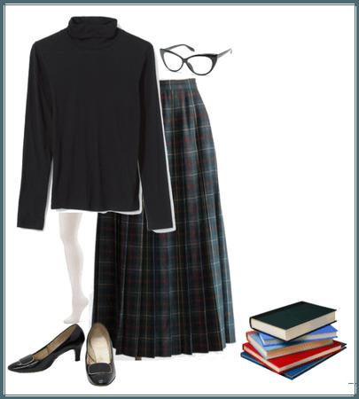 1960s Inspired Schoolgirl Outfit