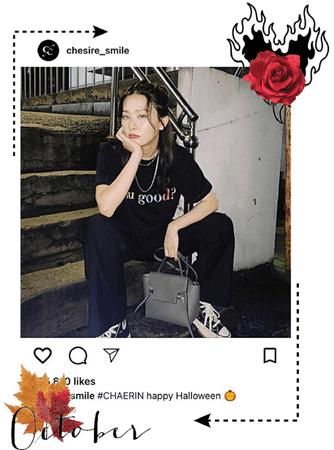 Chaerin instagram post (Happy Halloween 🎃) 2020. 31. 20