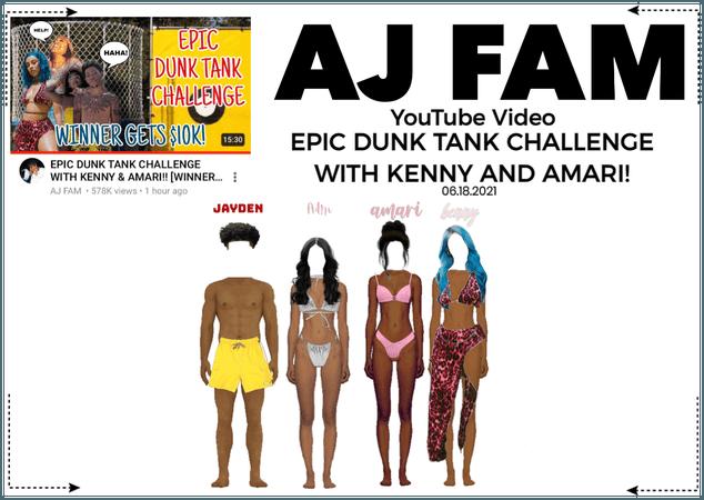 AJ FAM || EPIC DUNK TANK CHALLENGE!!