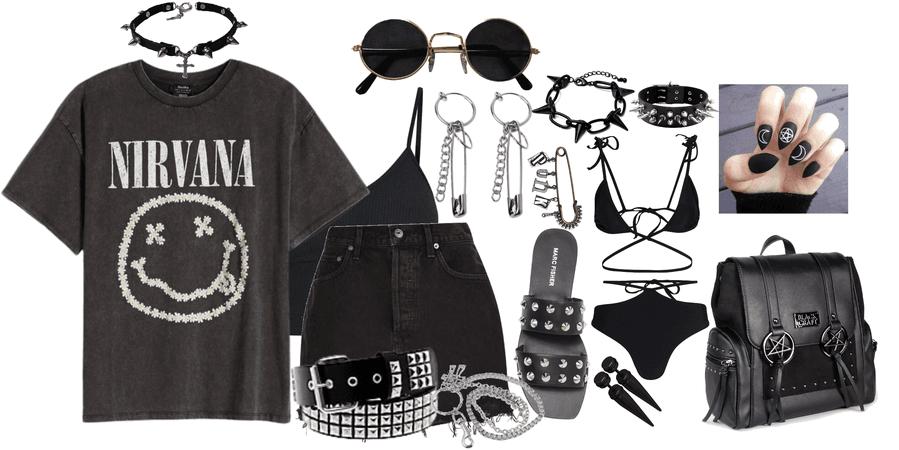 emo/edgy girl summer 🐺🦋