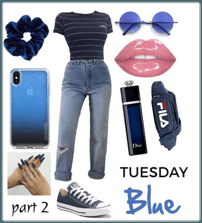blue jeans // Monochromatic outfit - BLUE prt2