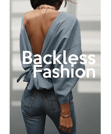 NEW CHALLENGE | Backless Summer Fashion