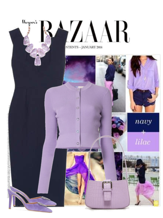 navy and lilac