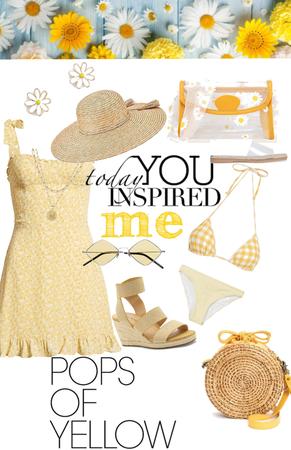 teeny weeny yellow polka dot bikini