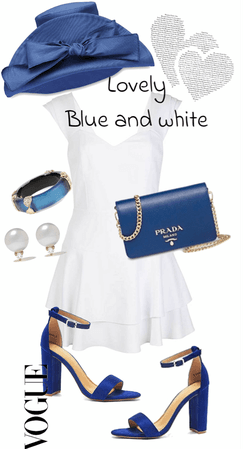 Lovely blue and white