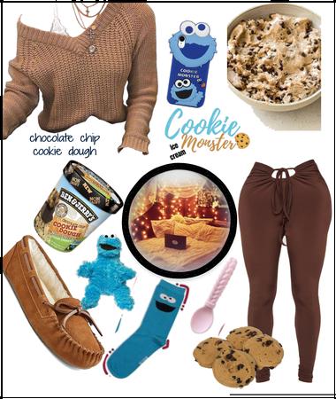 Chocolate chip cookie dough ice cream