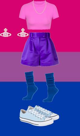 Bi pride outfit