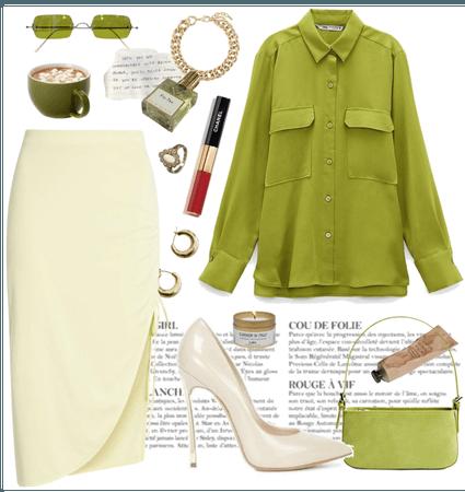 gal in green