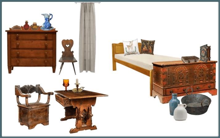 medieval bedroom (rustic)