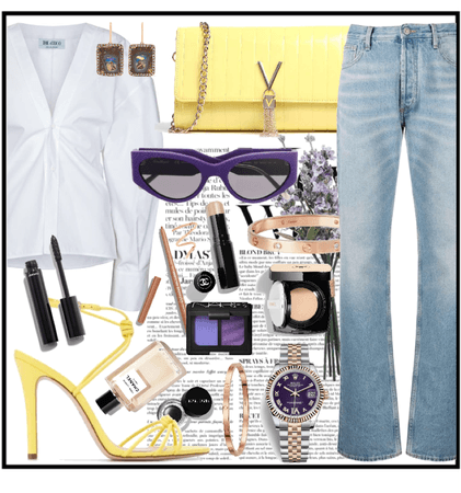 Yellow and purple combo