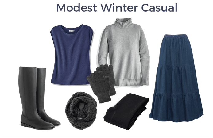 Modest Winter Casual