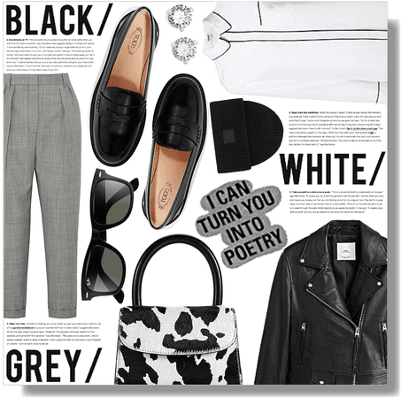 black / white / grey /
