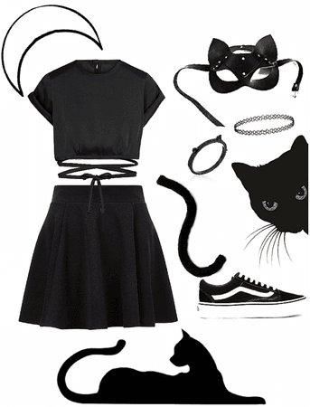 black cat outfit
