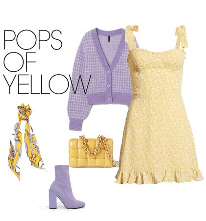 yellow x purple