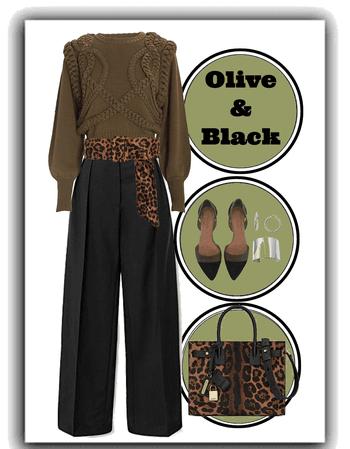Olive & Black