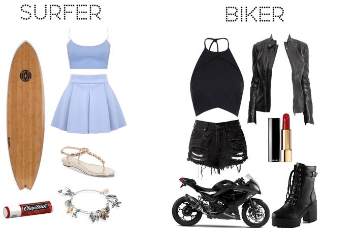 Biker/surfer