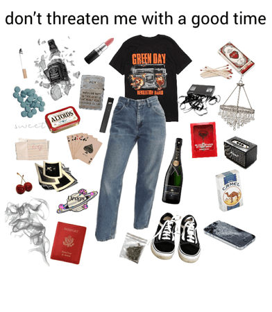 grunge party outfit
