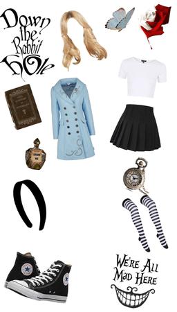 Teenager Alice in wonderland
