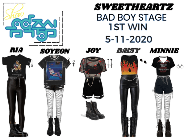 SWEETHEARTZ 'BAD BOY DEBUT STAGE' 1ST WIN