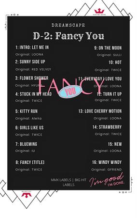 DREAMSCAPE [드림스게이프] D-2 Fancy You Tracklist