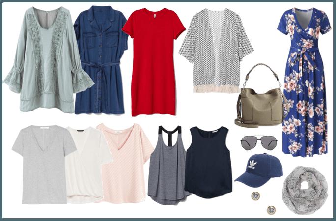 Summer Capsule - 2020 update - tops/dresses