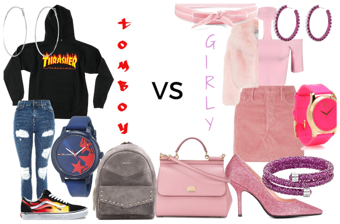 Tomboy VS Girly-Girl outfit