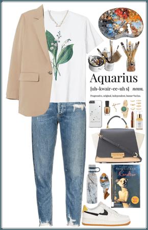 Aquarius Girl. Artistic style