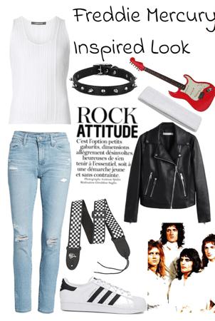 Freddie Mercury Inspired Look