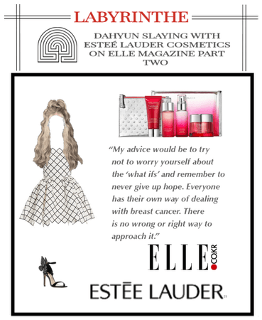 LABYRINTHE dahyun with estee lauder on ELLE