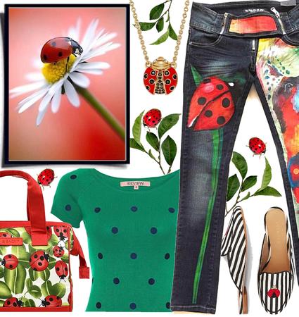Cute animal outfit: ladybug 🐞